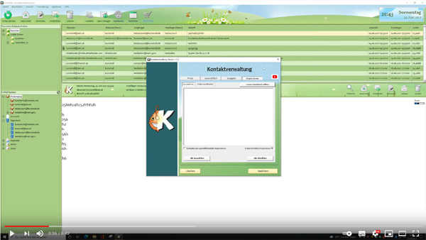 KUNOMAIL - Import von externen Kontakten (Tutorial)