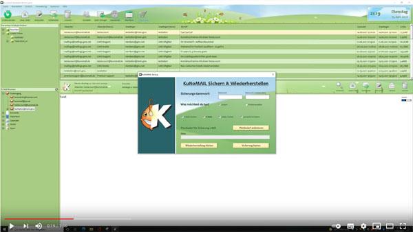 KUNOMAIL - Backup & Restore