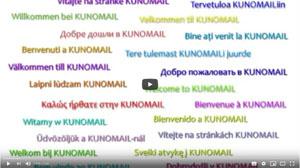 KUNOMAIL - Update 1.5.1 mit 22 Sprachen