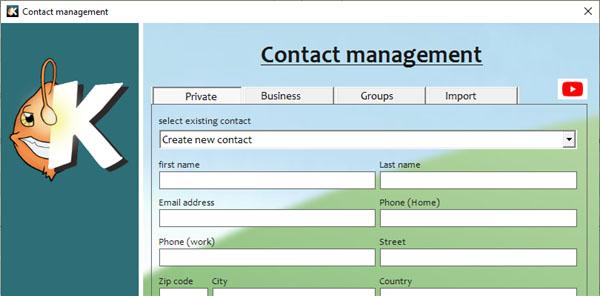 KUNOMAIL - Contact management