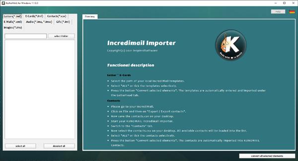 KUNOMAIL Incredimail Importer